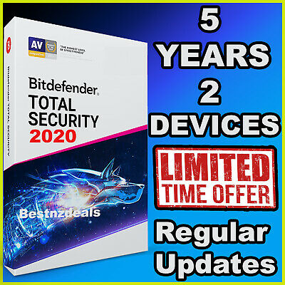 Bitdefender Total Security 2019 - 5 Years - 2 Devices Activation - Download