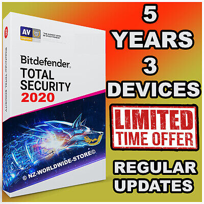 Bitdefender Total Security 2019 - 5 Years - 3 Devices Activation - Download