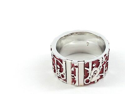 371ab3ef874 VINTAGE CHRISTIAN DIOR Red Trotter Ring in Excellent Condition: Size 7