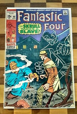 Fantastic Four #90 - The Skrull takes a Slave !.
