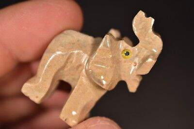 Soapstone ELEPHANT CARVING 4cm 18g Carved Healing Crystal Gift