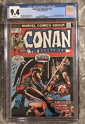 Conan The Barbarian 23 First Appearance Red Sonja CGC 9.4 White Pages No Reserve