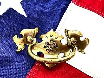 Bald Eagle Brass Antique Hardware Vintage Chippendale Drawer Pull 2 1/2 center
