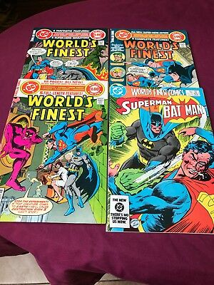 Worlds Finest  Lot #256, 262,263, & 302 All VF