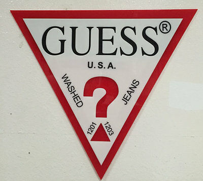 Guess Wall Sign - Triangle