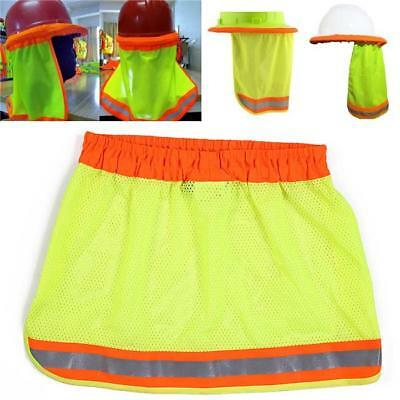 Safety Hard Hat Reflective Stripe Neck Shield Cap Sun Shade Protective Helmet TO