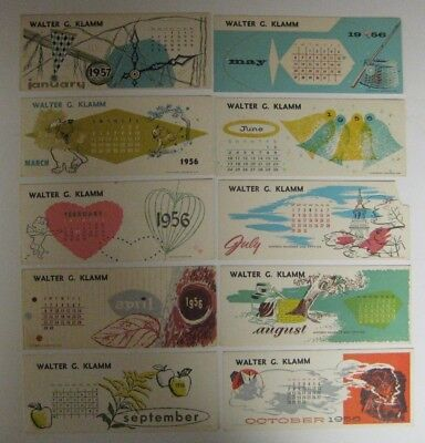 Vintage Lot 1950's Ink Blotters Advertising Kansas City MO Calendars Insurance