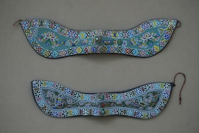 Beautiful Pair of Antique Chinese Straits Beaded Headbands