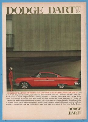 1961 Dodge Dart red coupe vintage 1960s car photo magazine print ad