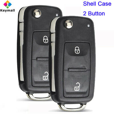 for Volkswagen Touareg Beetle Caddy Seat Skoda Flip Remote Key Shell Case Fob