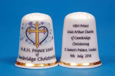 H. r.h. Prince Louis of Cambridge Taufe 9th Juli 2018 China Fingerhut B / 41