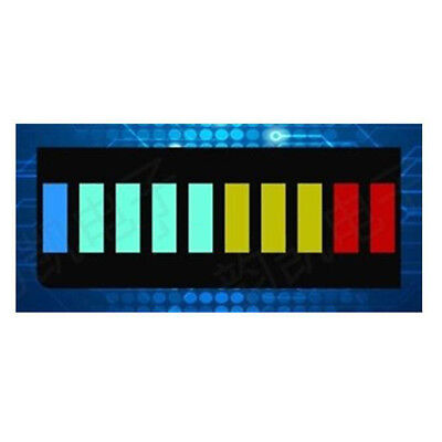 2x 10 Segment Color LED BAR Graph Indicator DIP 1*Blue 4Green 3Yellow 2Red./A+