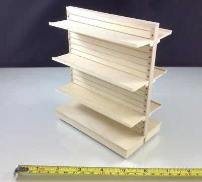 Dollhouse Miniature Market Store Home Item Furniture Wood Display Shelf 1:12