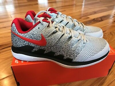 f39354fbb185 Nike Air Zoom Vapor X HC Pure Platinum Habanero Red AA8030 046 Men s Size  8.5