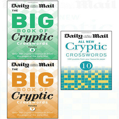 Daily Mail collection 3 books set, Big Book of Cryptic Crosswords 7,8,10. NEW