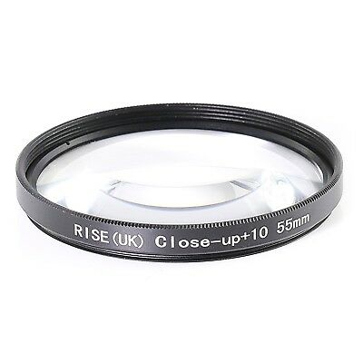 55mm Macro +10 Close Up Filter Lens For Sony A300 A330 A350 A700 A550 A500 A380