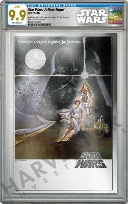 2018 Star Wars: A New Hope - Premium Silver Foil - Cgc 9.9 Mint First Release