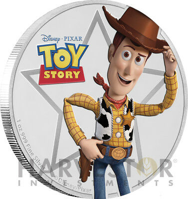 Disney Pixar Toy Story - Woody - 1 Oz. Silver Coin - Ogp Coa - 1St In Series