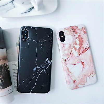 Marble Pattern Soft Rubber TPU Silicon Cover Case For Apple iPhone X 8 7 6S Plus