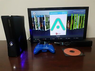 RGH XBOX 360 Slim Corona - 250GB - Play Copied Games – Blue LEDs S-RGH JTAG