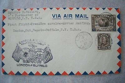 1933 US FDC London To Buffalo Canada 6c On 5c Brown Ottawa Conference 1932 Stamp