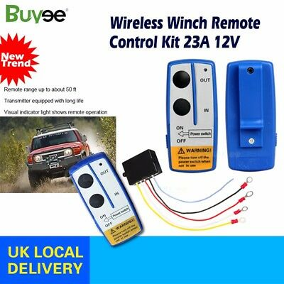 Wireless Winch Remote Control Recovery Kit 2 Handset Switch For JEEP ATV SUV 12V
