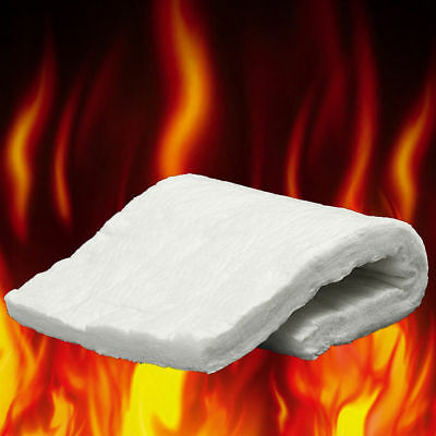 8 Sizes Ceramic Fiber Blanket High Temperature Thermal Ceramics Insulation White