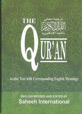 LARGE: The Quran - Saheeh International -Arabic with English Meaning (Hardback)