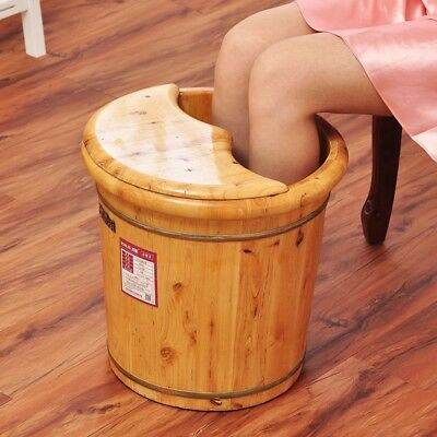 Tall Foot basin wooden bucket foot bath tub with cover &massage 高足浴桶加厚泡脚桶按摩加盖
