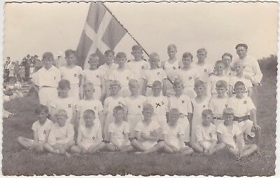 Denmark, Danmark - Gramby Komunne (photo E. Lords) Boys, soccer team 1920