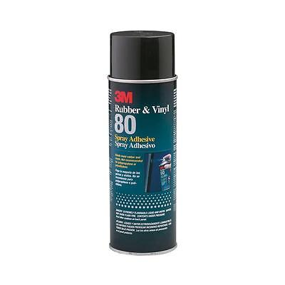 3M 80 Rubber and Vinyl Spray Adhesive, 24 Oz High Strength, High Temperature