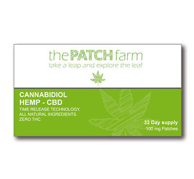 Nutritional CBD Patch 100mg (32 day supply, 8 patches)