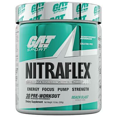 * NITRAFLEX * by GAT SPORTS * PRE-WORKOUT (ALL FLAVORS -NEW PEACH ICED TEA ALSO)