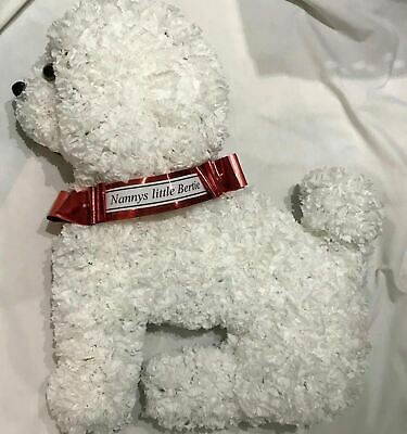 Dog Silk Funeral Flower Artificial Wreath Tribute Memorial Bischon Any Breed
