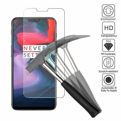 100% Genuine Tempered Glass Screen Protector Guard For OnePlus 6 2018