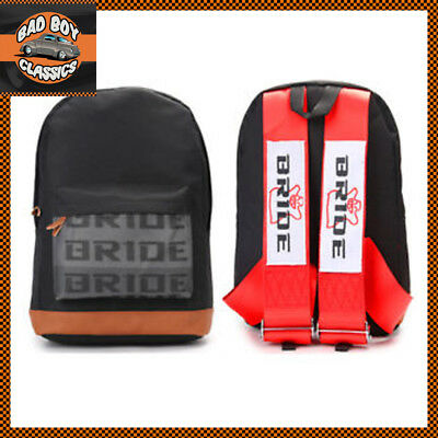 Bride JDM Backpack Bag Rucksack With Red Racing Harness Straps