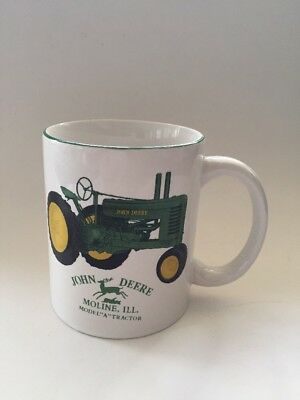 "John Deere MODEL ""A"" TRACTOR Ceramic Porcelain Collectible Mug,  Moline ILL"