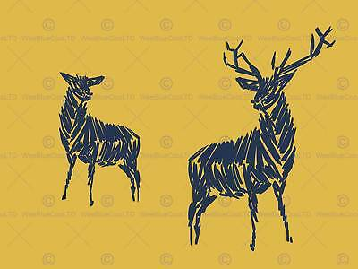 Deer Stag Animal Picture Art Canvas Print