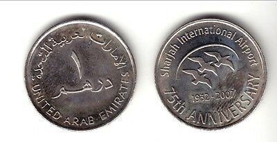 "Emiratos Arabes  2007  1 Dirham  "" International Airport "" Ni Unc Km:76"