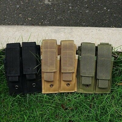 Hunting MOLLE Pouch Double Pistol Magazine Holder Bag for 1911 USUG 30