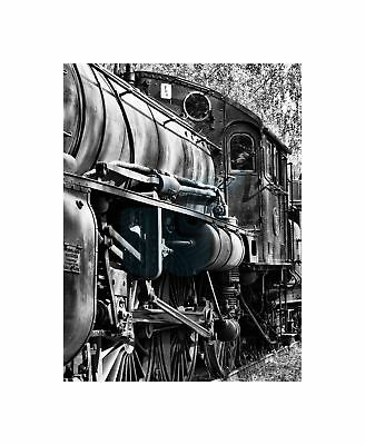CHRISTMAS RIDE TRAIN LOCOMOTIVE STEAM POWER OLD POSTER ART PRINT A3 SIZE GZ2182