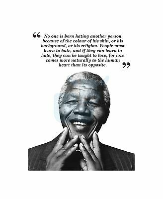 For To Be Free Nelson Mandela BW Motivation Typography Quote Art Canvas Print
