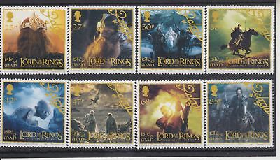 Isle Of Man Mnh Umm Stamp Set 2003 The Lord Of The Rings Trilogy Sg 1116-1123