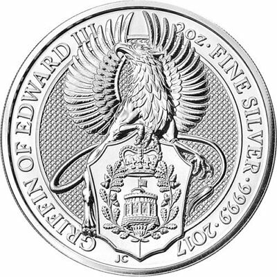 2017 QUEENS BEASTS THE GRIFFIN 2oz SILVER COIN