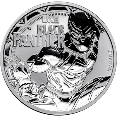 2018 Black Panther Marvel Series 1 Oz Tuvalu Silver Coin