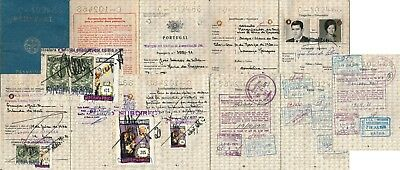 Mocambique 1971, Scarce Passport With Different Revenues, See..   #d1578