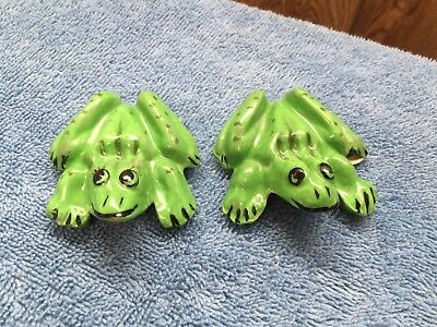Frog ceramic Anatomically Correct Male & Female Naughty Vintage