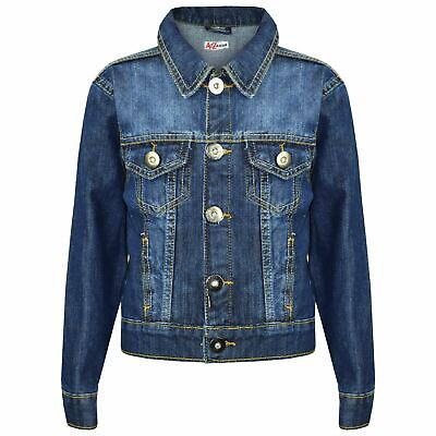 Kids Boys Denim Jackets Designer Blue Jeans Jacket Fashion Coat New Age 3-13 Yr