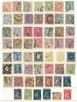 Stock Sheet of Early Portugal Stamps