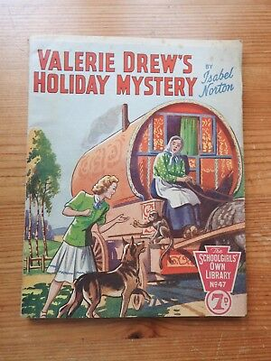 Schoolgirls' Own Library #47 - Valerie Drew's Holiday Mystery - Isabel Norton VG